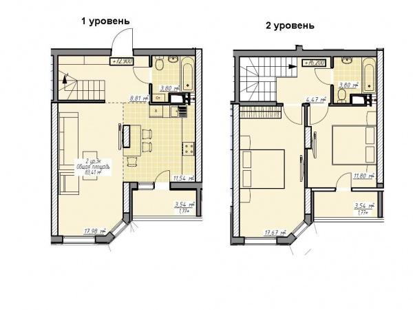 Планировки трехкомнатных квартир 83.42 м^2